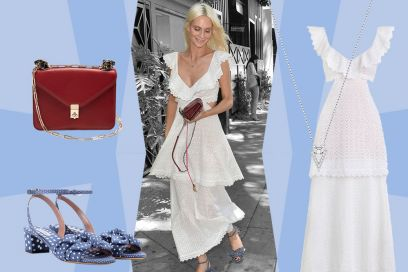 Romantica in cotone bianco come Poppy Delevingne: get the look!