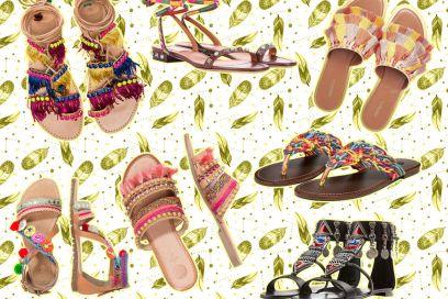 I sandali boho-chic per l'Estate 2017