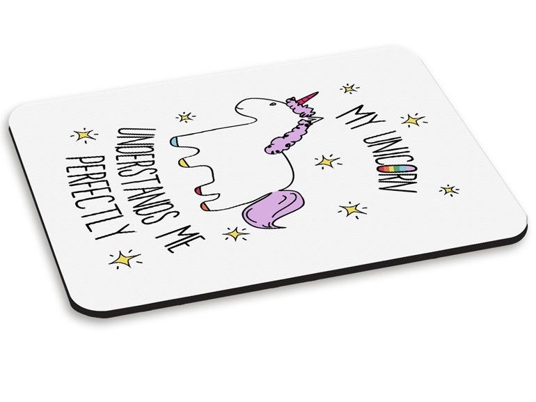 Tappetino mouse unicorno