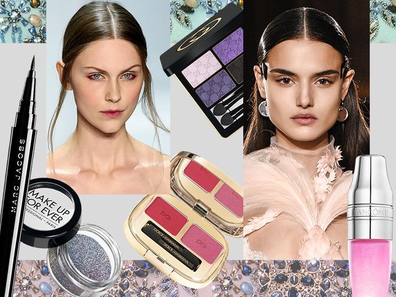 beauty look da sera trucco make up intenso elegante collage_mobile