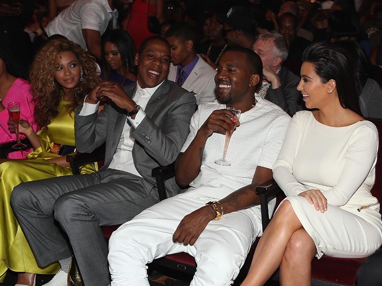 beyonce kim kardashian front row