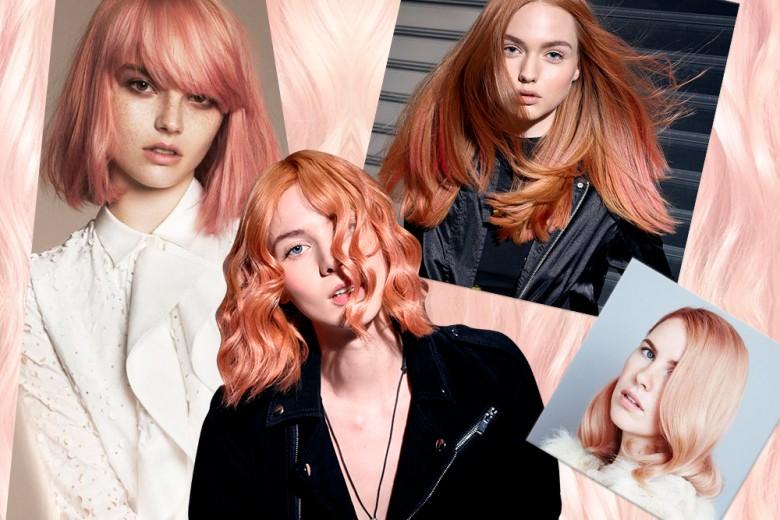 Capelli Peach Blonde: la tinta biondo pesca del momento