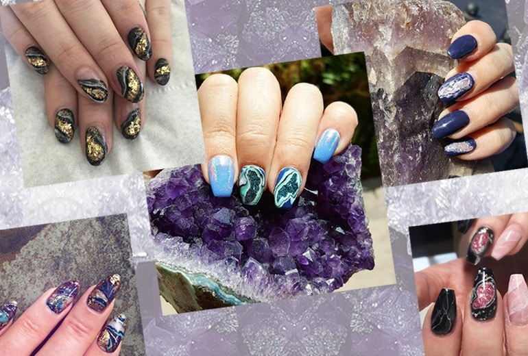 Geode Nails: il trend nail art che ricrea pietre preziose