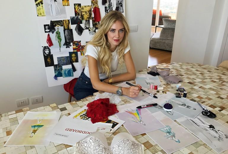 Chiara Ferragni designer dei costumi di Intimissimi on Ice 2017