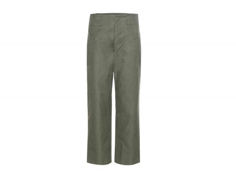 isabel-marant-etoile-pantaloni-verde-cotone