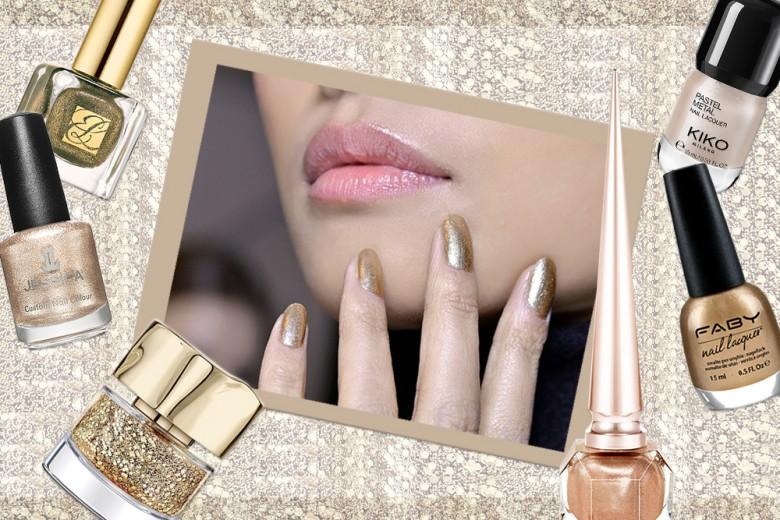 Smalto oro: i più belli del momento per una manicure preziosa