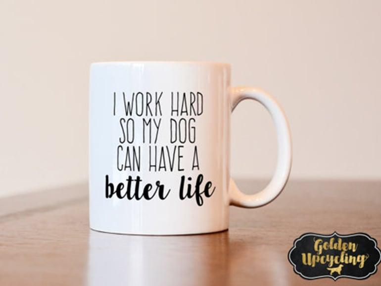 tazza lavoro cane
