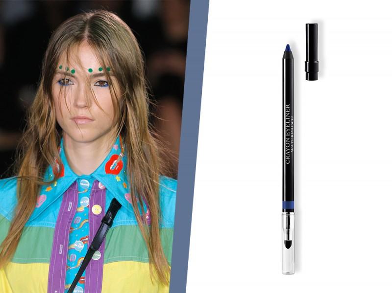 trucco eyeliner blu elettrico