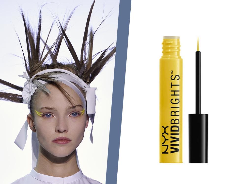 trucco eyeliner giallo