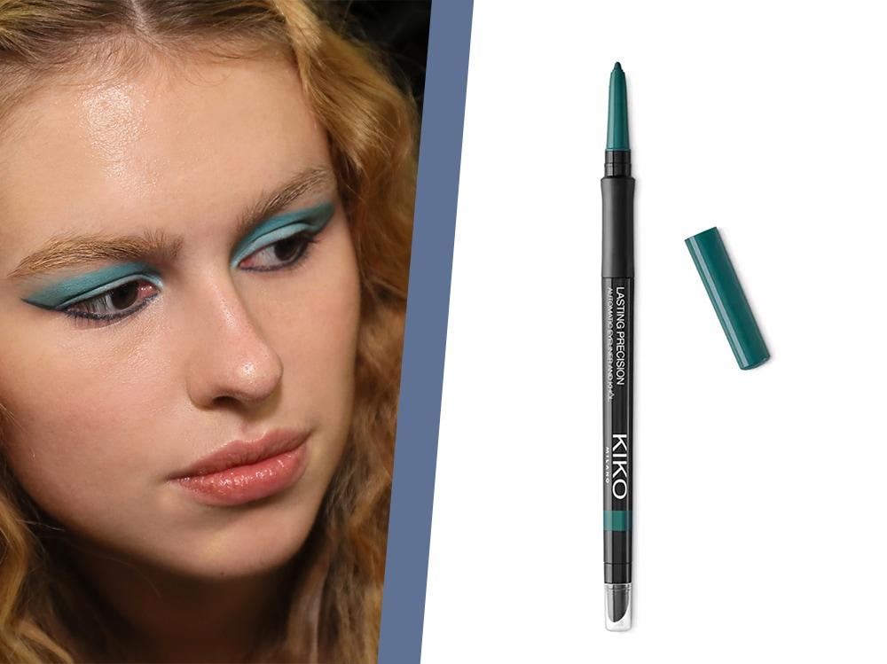 trucco eyeliner verde ottanio kiko