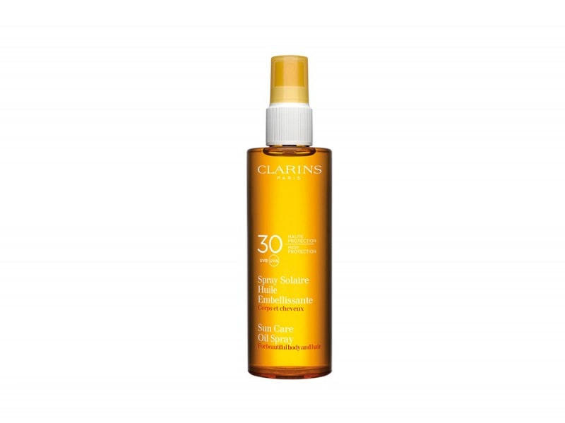 CLARINS_Spray Solaire Huile Embellissante Corps et Cheveux UVB30