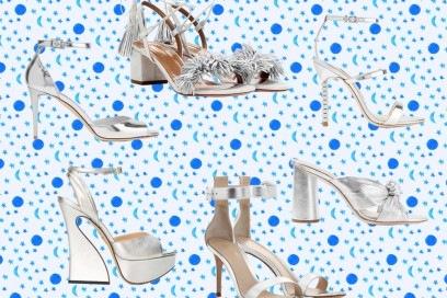 I sandali argento per le sere d'estate