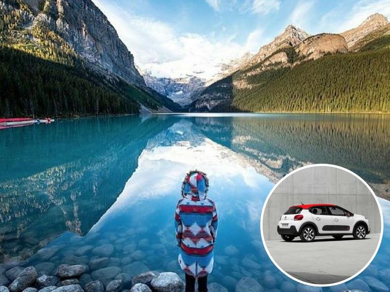 Icefields Parkway in Canada con Citroen Nuova C3
