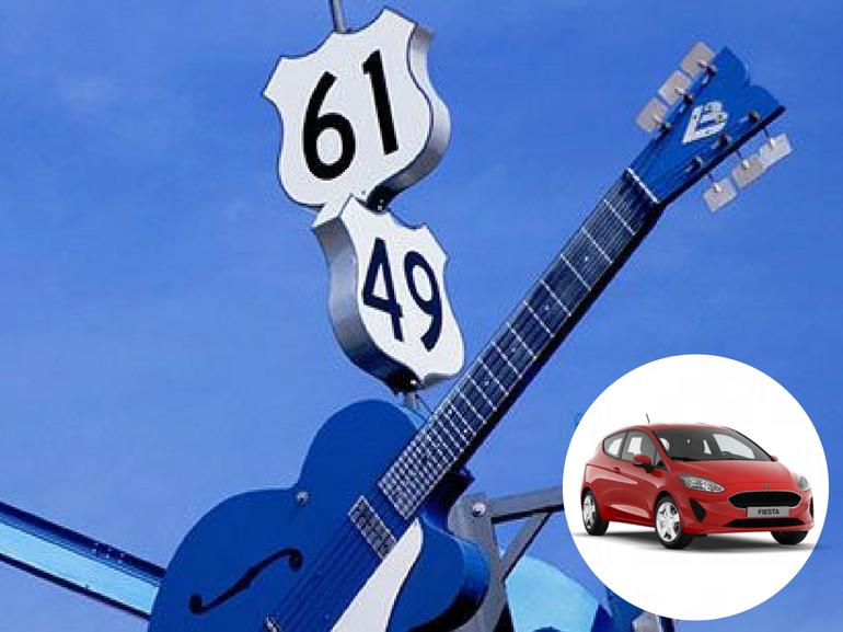 Musica a tutto volume sulla Blues Highway USA con la Nuova Ford Fiesta