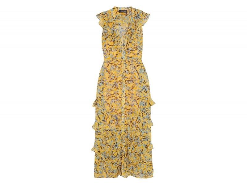 abito giallo saloni su net a porter
