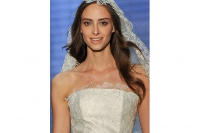 acconciatura sposa capelli lunghi sciol (