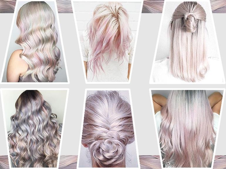 capelli pear hair tinta perlaperlata grigio lilla verde pastello cangiante collage_mobile