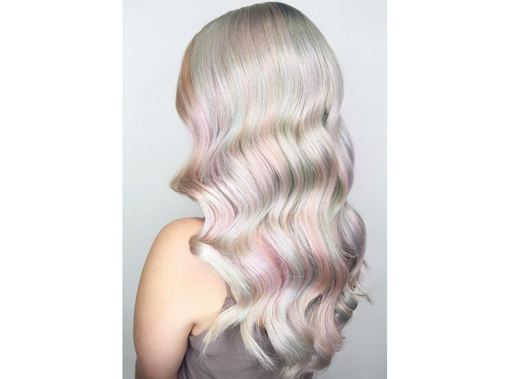 capelli pear hair tinta perlata grigio lilla verde pastello cangiante (1)