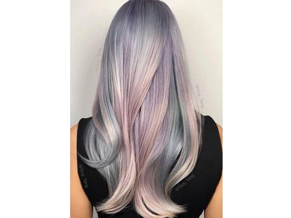 capelli pear hair tinta perlata grigio lilla verde pastello cangiante (12)