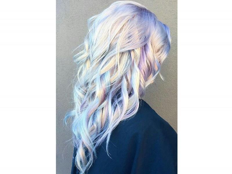 capelli pear hair tinta perlata grigio lilla verde pastello cangiante (4) ee090a2f6c7f