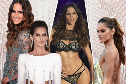 Izabel Goulart beauty look: capelli luminosi e occhi in primo piano