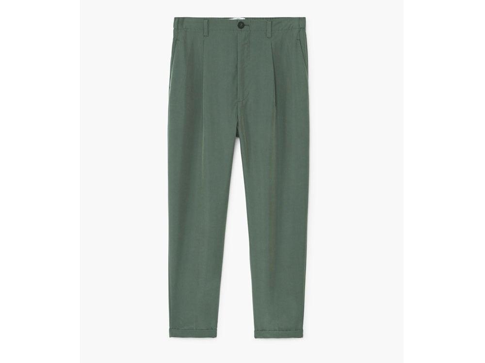 pantaloni-mango-verdi