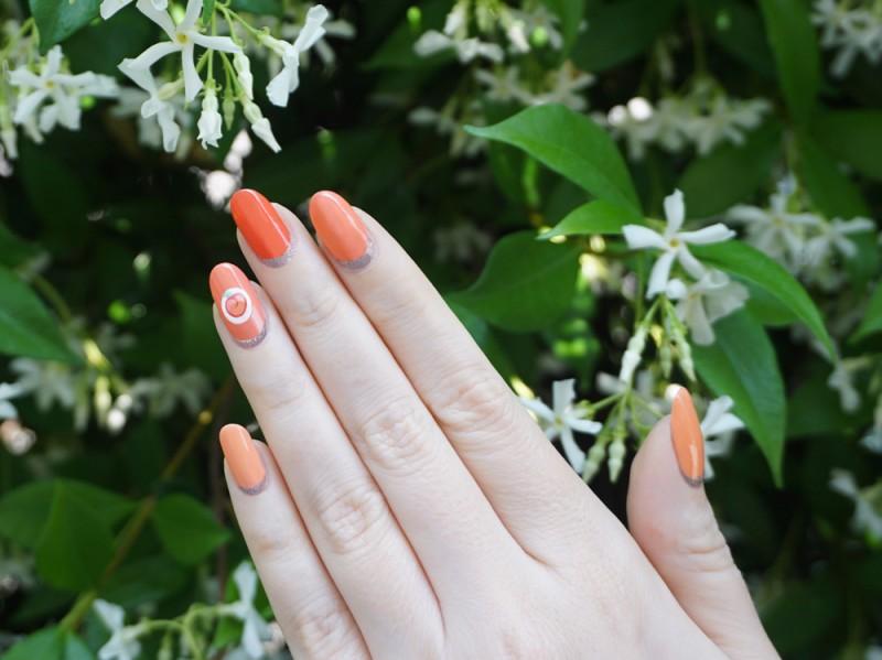 peach-nailart