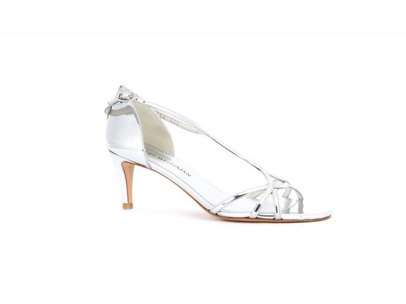 stuart-weitzman-sandali-argento-tacco-basso