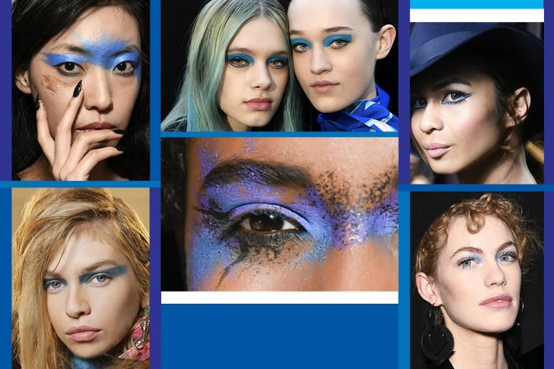 Trucco blu: la tendenza make up da provare adesso