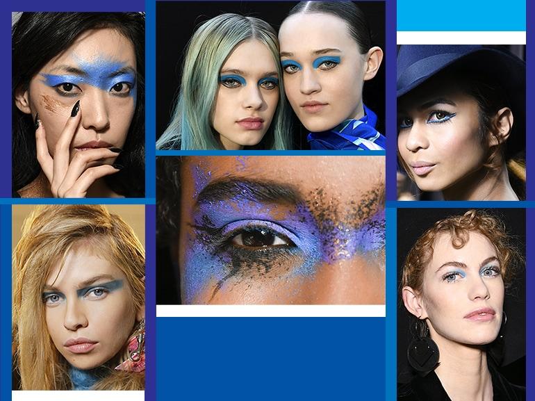 trucco blu la tendenza makeup autunno inverno 2017 2018 collage_mobile