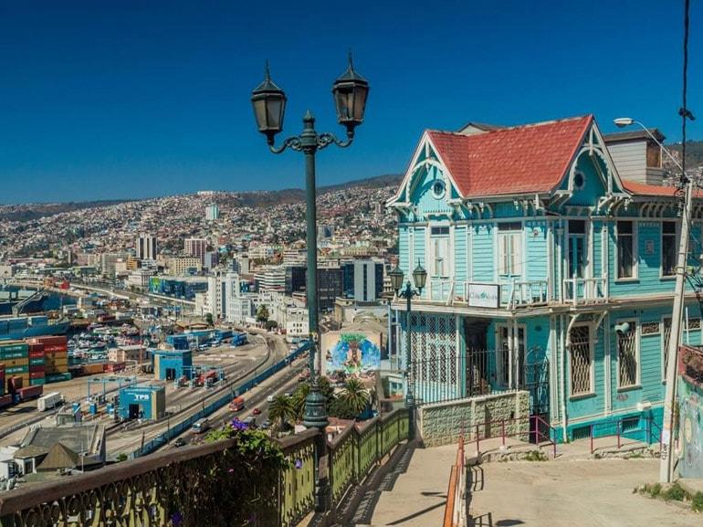 Case colorate di Valparaiso