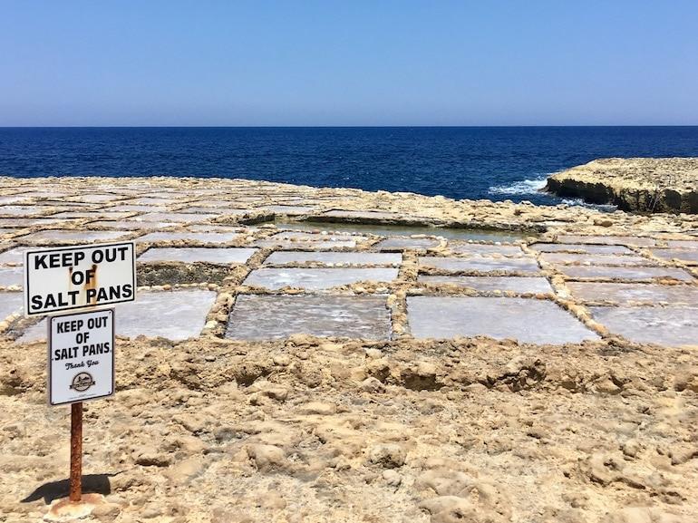 Saline salt pans Gozo