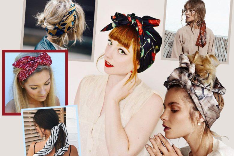 Acconciature con foulard: i capelli raccolti e semi raccolti di tendenza