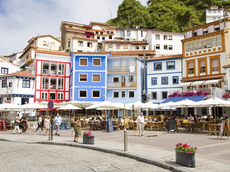 case di pescatori a Cudillero Asturie
