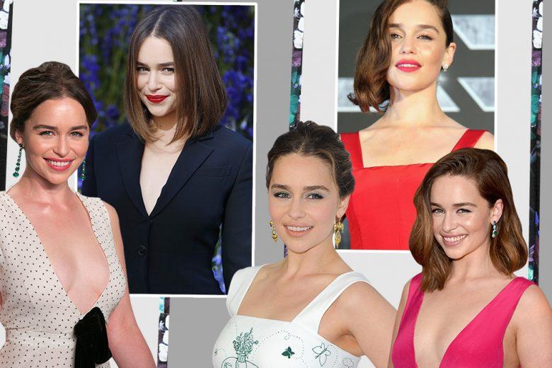 Emilia Clarke beauty look: trucco e capelli della Madre dei Draghi