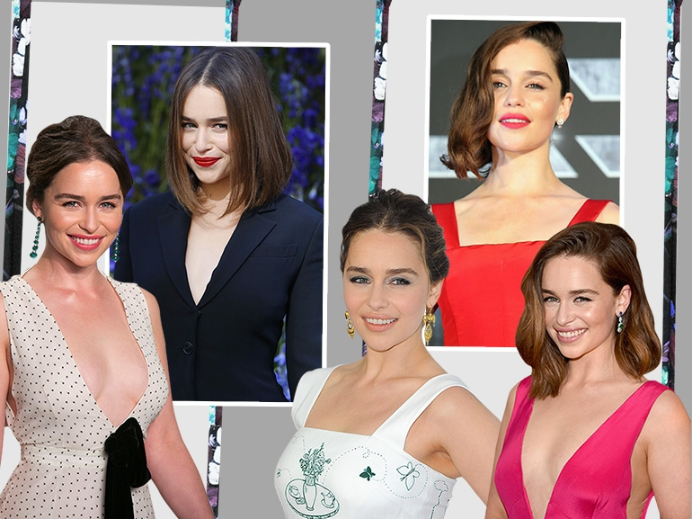 emilia clarke beauty look trucco capelli collage_mobile