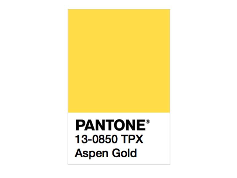 pantone aspen gold