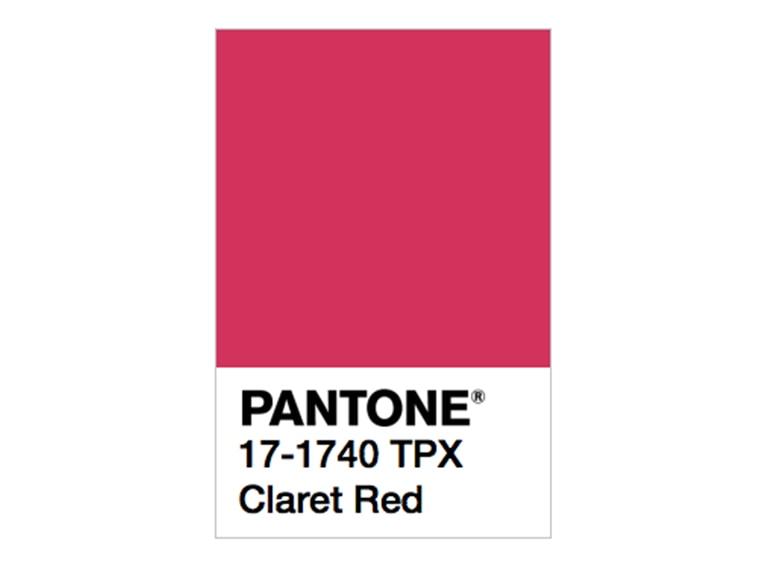 pantone claret red