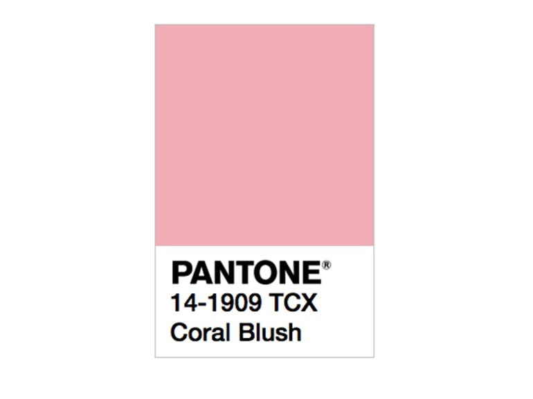 pantone coral blush