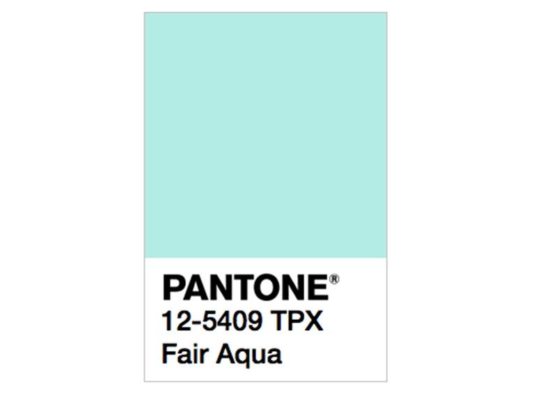 pantone fair aqua