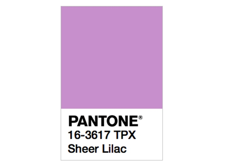 pantone sheer lilac