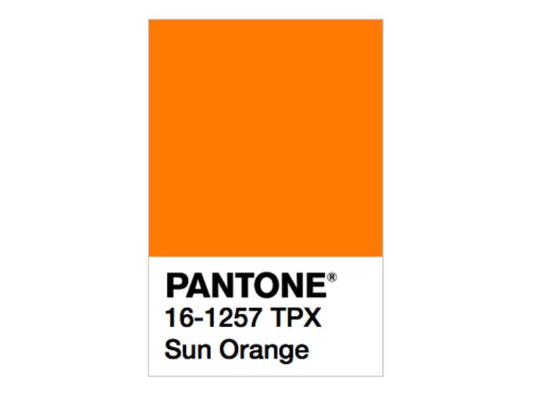 pantone sun orange