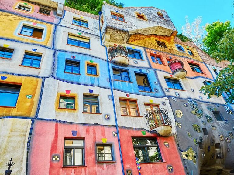 un puzzle di case a Vienna