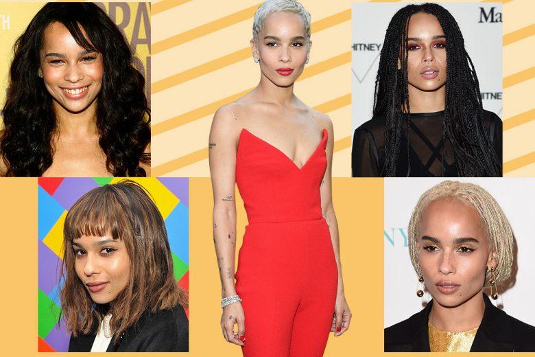 Zoe Kravitz: evoluzione beauty look capelli e make up