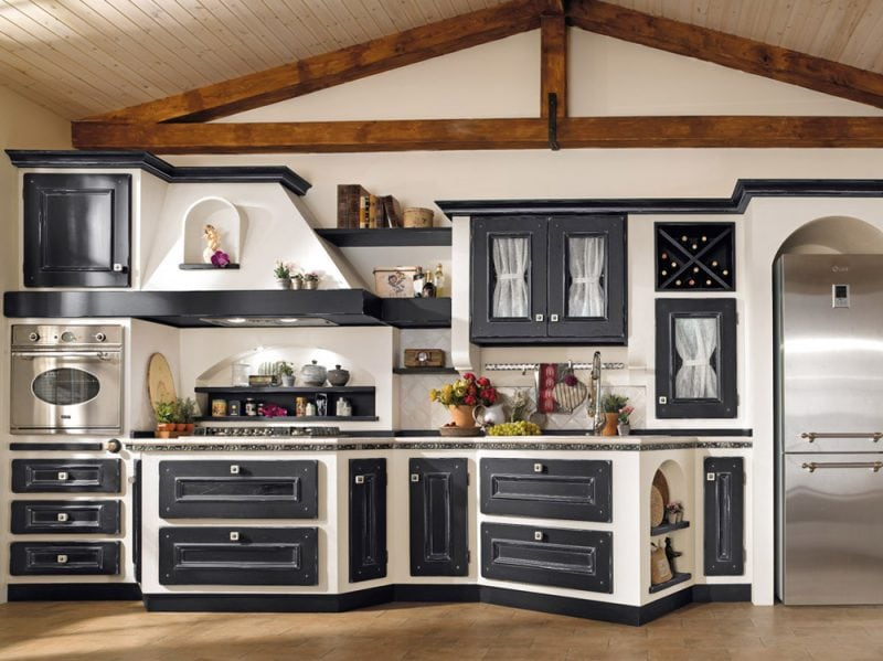 Cucine in muratura classiche rustiche e country for Ante cucina in muratura