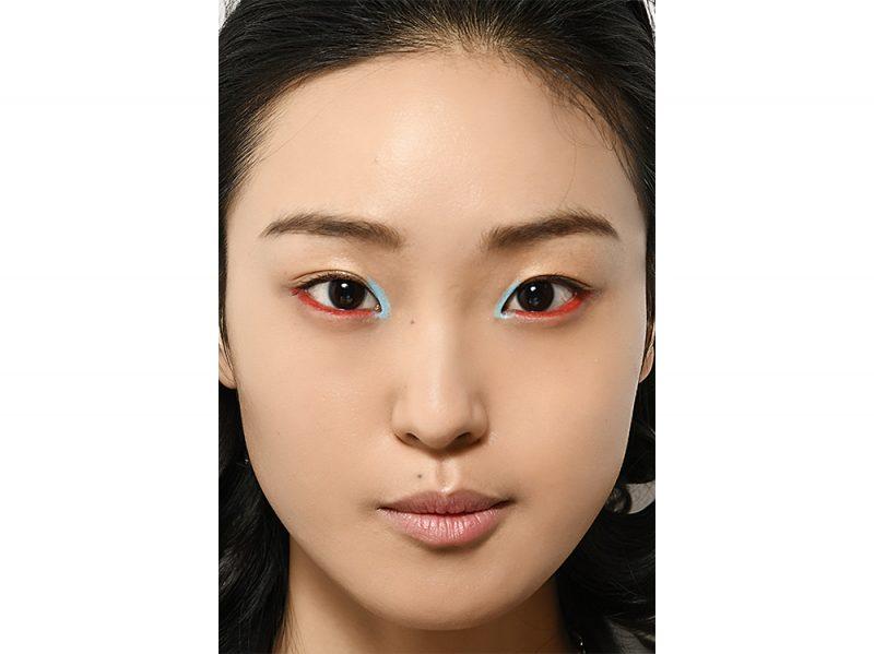 trucco occhi rosso