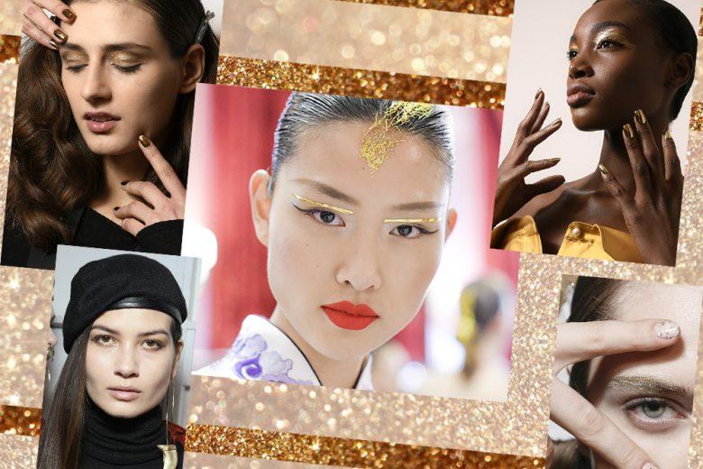 Trucco oro: il golden beauty look è la tendenza del momento