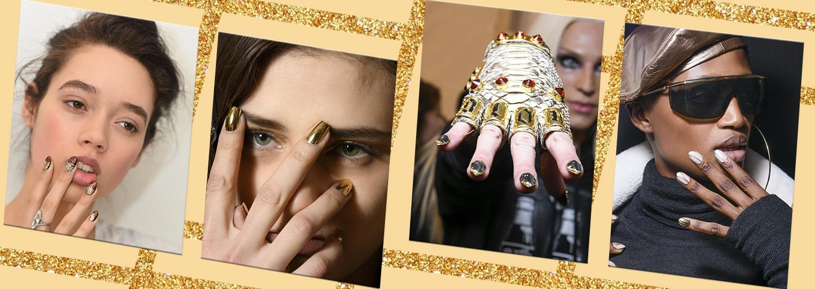 Nail art oro: le più belle da copiare ora