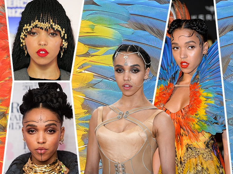 fka twigs beauty look trucco capelli collage_mobile
