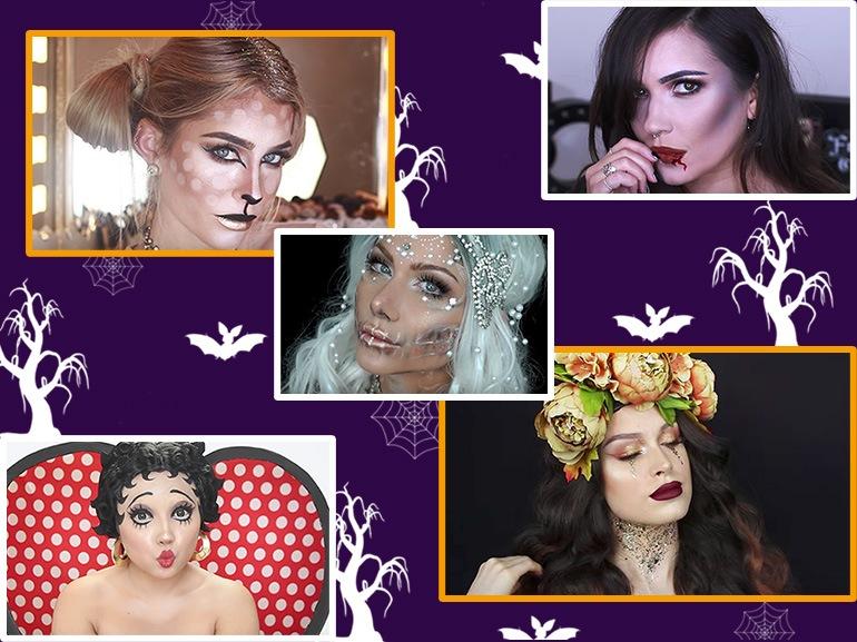 10 idee trucco per Halloween 2017 i videotutorial più belli da copiare collage_mobile